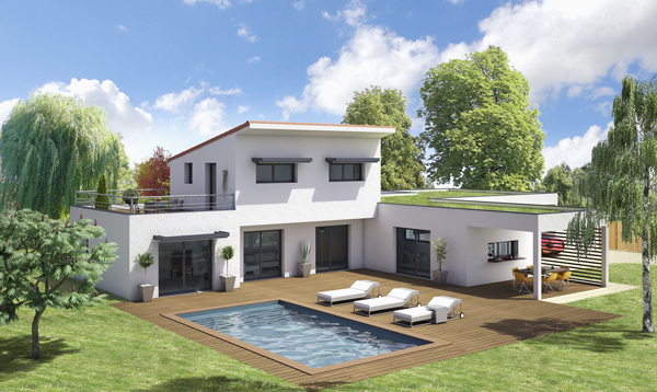 Maisons elan trois gammes personnalisables - Style de maison moderne plain pied ...