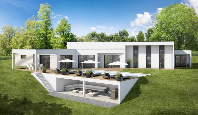 Maisons elan trois gammes personnalisables - Maison plain pied design ...